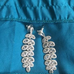 Swarovski crystal pierced earrings